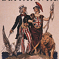 1918 1910s Usa Uncle Sam Ww1  Lions Print by The Advertising Archives