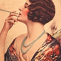 1920s Usa Women Cigarettes Holders Print by The Advertising Archives