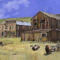 ghost town of Bodie-California Print by Guido Borelli
