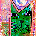 House of Cats series - Moon Cat Print by Moon Stumpp