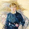 Portrait of Louise Riesener Poster by Berthe Morisot