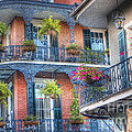 0255 Balconies - New Orleans Poster by Steve Sturgill
