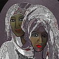 065 - White veiled Ladies   Poster by Irmgard Schoendorf Welch