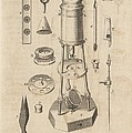 18th Century microscope, artwork Print by Science Photo Library