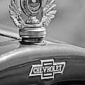 1928 Chevrolet Stake Bed Pickup Hood Ornament Print by Jill Reger