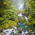 Amazing Waterfall Print by Tim Hester