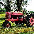 Antique Tractor  Print by Julie Dant