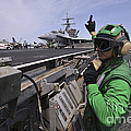 Aviation Boatswain's Mate Signals Poster by Stocktrek Images