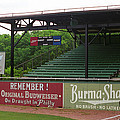 Baseball Field Burma Shave Sign Poster by Frank Romeo