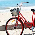 Beach Bicycle Poster by adspice studios
