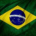Brazilian flag Print by Les Cunliffe