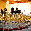 Champagne glasses at the party Print by Michal Bednarek