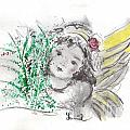 Christmas Angel Print by Laurie D Lundquist