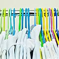 Clothes hangers Print by Tom Gowanlock