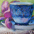 Coffee And Flowers Poster by Nancy Stutes