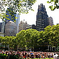 Concert at Bryant Park Poster by  Photographic Art and Design by Dora Sofia Caputo