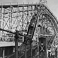 Coney Island - Cyclone Roller Coaster Print by MMG Archives