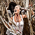 Corn Field Horror Print by Jt PhotoDesign