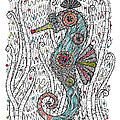 Dream Seahorse Poster by Susan Claire