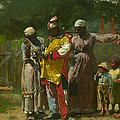 Dressing for the Carnival Print by Winslow Homer