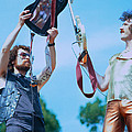 Eric Bloom and Buck Dharma of Blue Oyster Cult at Day on the Green in Oakland Print by Daniel Larsen