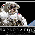 Exploration Inspirational Quote Print by Stocktrek Images