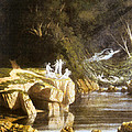 Fairies by a Rocky Stream Poster by Francis Danby