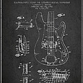 Fender Guitar Patent Drawing from 1961 Poster by Aged Pixel
