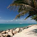 Fort Zachary Taylor Beach Print by Amy Cicconi