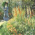 Gladioli Poster by Claude Monet