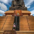Huay Mongkol Temple Print by Adrian Evans