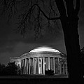 Jefferson Memorial at Night Poster by Sanjay Nayar