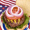 Juicy fourth of July hamburger Poster by Joe Belanger