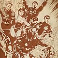 Justice League Of America Poster by FHT Designs
