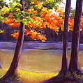 Lake Trees Poster by MaryAnn Stafford