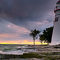 Marblehead Lighthouse at Sunrise Poster by At Lands End Photography