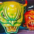 Mardi Gras Devils Print by Gregory Dyer