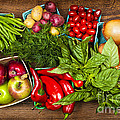 Market fruits and vegetables Print by Elena Elisseeva