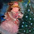 Mother Christmas Print by Laurie D Lundquist