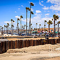 Newport Beach Dory Fishing Fleet Market Print by Paul Velgos