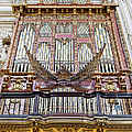 Organ in Cordoba Cathedral Poster by Artur Bogacki