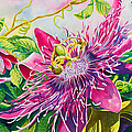 Passionflower Party Poster by Janis Grau