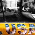 Patriotic USA Taxi Poster by Anahi DeCanio