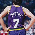 Pistol Pete Maravich Print by Paint Splat