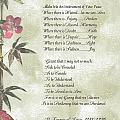 Pope Francis St. Francis SIMPLE PRAYER Butterfly Garden Poster by Desiderata Gallery