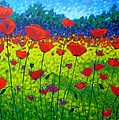 Poppy Field Print by John  Nolan