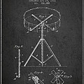 Portable Drum patent Drawing from 1903 - Dark Print by Aged Pixel