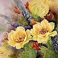 Prickly Pear in Bloom Print by Summer Celeste