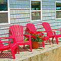Red Chairs Poster by Debbi Granruth