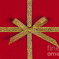 Red gift with gold ribbon Print by Elena Elisseeva